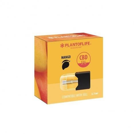 cartridge pod sabor mango 5 por ciento cbd compatible con Juul